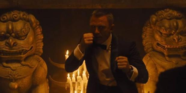 Daniel Craig as James Bond in the Skyfall scene in question. Photo/YouTube