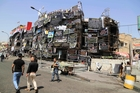 The site of a massive truck bomb explosion in Baghdad this week. Photo / AP