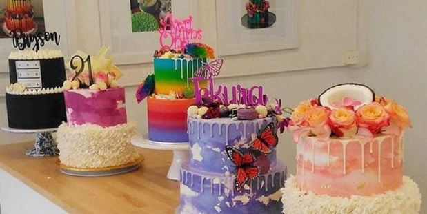Some of his cake creations. Photo / Instagram