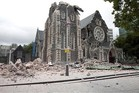 New drone footage shows the inside of ChristChurch Cathedral.