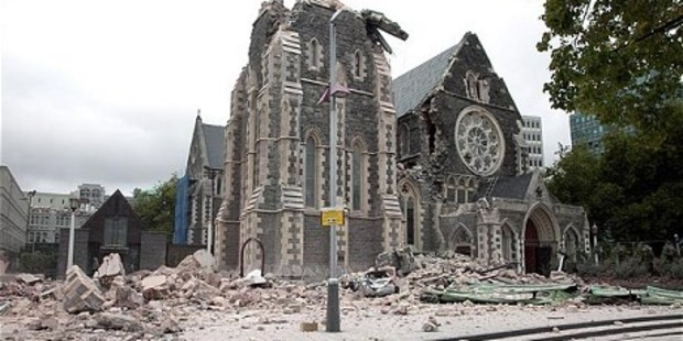 Loading New drone footage shows the inside of ChristChurch Cathedral.