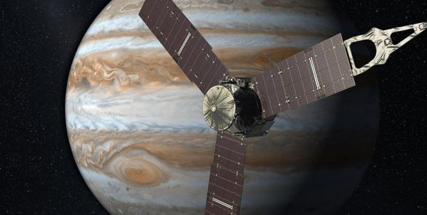 Loading Nasa's Juno spacecraft is set to fire its main rocket engine to slow itself down from a speed of 265,000km and slip into orbit around Jupiter.