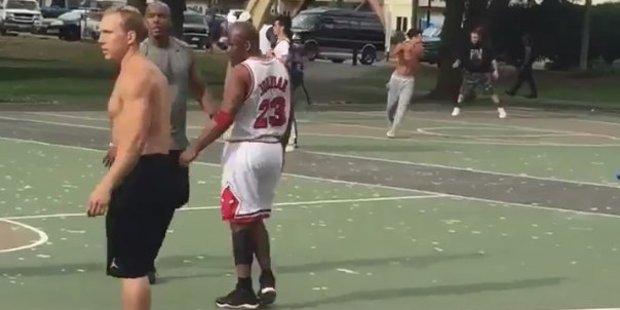 Loading Fake Michael Jordan. Photo / Twitter