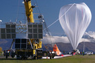 Nasa high-pressure balloon under inflation at the Wanaka aerodrome before its successful launch two months ago. Photo / Supplied