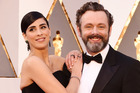Sarah Silverman, pictured with partner Michael Sheen, says she's lucky to be alive after a surprise illness. Photo/Splash News