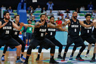 The Tall Blacks perform the haka at the Olympic qualifier tournament in Manilla. Photo / Getty