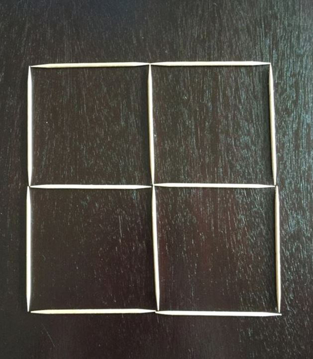 Step 1: Start with a four-square shape. Photo / Quora