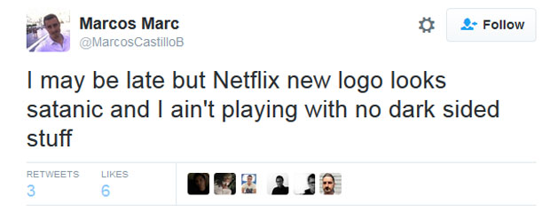 A fan takes issue with Netflix's new logo.