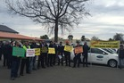 Christchurch taxi drivers are protesting against ride-share giant Uber.