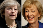 Theresa May and Andrea Leadsom are in the running to become the next UK Prime Minister. Photo / AP