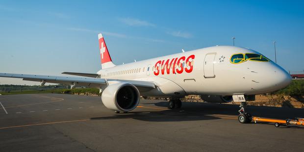A Swiss Air CS100. Photo / Bombardier