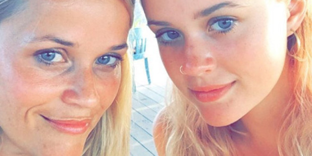 Reese Witherspoon and her daughter Ava Phillippe look scarily similar. Photo / Instagram