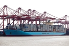 MARINE MONSTER: A 9500 TEU Maersk container ship of the kind that will visit Port of Tauranga.PHOTO/FILE