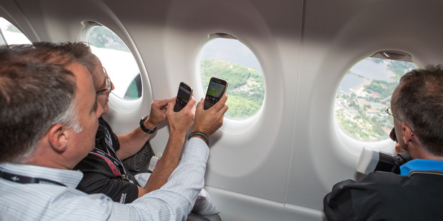 The plane also features larger windows. Photo / Bombardier