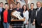 Angus Douglas, Awatere Douglas, Harata Douglas, Zarna Douglas, Matangiroa Flavell (award recipient for Outstanding Te Arawa Rangatahi Achiever of the Year), Moana Douglas, Erena Hond-Flavell and Te Ururoa Flavell at last year's awards.