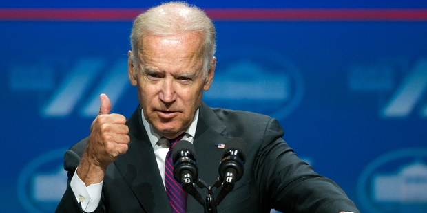 Biden swooped in and dominated the contest between the respective running mates. Photo / AP