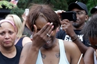 Diamond Reynolds, the girlfriend of Philando Castile, shares her grief with the world. Photo / AP