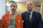 Antony de Malmanche, the Kiwi jailed in Bali for allegedly smuggling 1.7kg of meth into Denpasar, with his lawyer Craig Tuck.