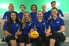 Tauranga water polo players named in New Zealand team. Back, from left: Liam Moffat, Charlie Wood, Josef Schuler, Reuben Reynolds and Bae Fountain. Front: Grace Elisara, Ella Pollock, Shinae Carrington and Kayla Dew.