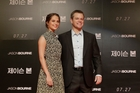 Alicia Vikander and Matt Damon. Photo / AP