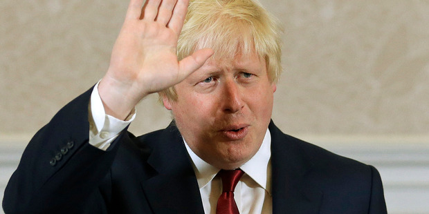 Loading Former London Mayor Boris Johnson is now Britain's Foreign Secretary. Photo / AP