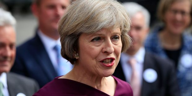 Britain's Home Secretary, Theresa May, came out on top after a Westminster episode of Game of Thrones. Photo / AP