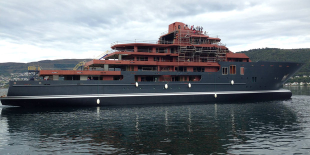 Launch of the mega yacht Ulysses in Norway. Photo/Kleven