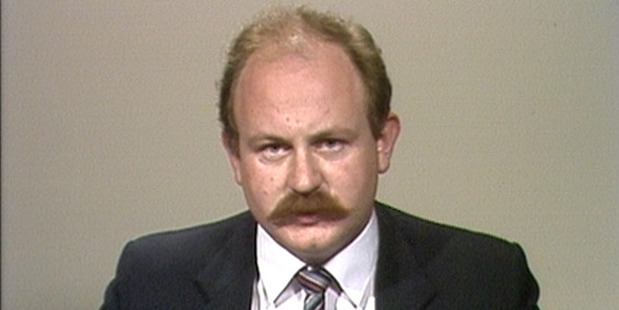 The beginnings of an icon: How Mark Sainsbury's moustache looked back in 1984. Photo/TVNZ
