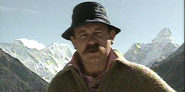 Mark Sainsbury and his moustache, seen on location in 1991.