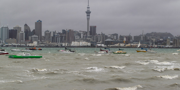 Stormy weather in the harbour has cancelled Northcote ferry services. Photo / File