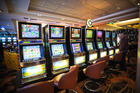 Empty pokie machines inside the SkyCity Casino. Photo / File