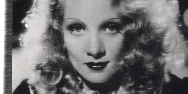 Marlene Dietrich, the German-born film star and singer.