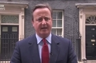 British Prime Minister sings a tune after announcing a date for his resignation to media in Downing Street
