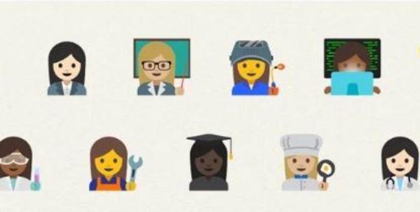 Some of Google's new emoji targeting gender equality.