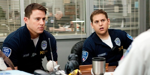 Channing Tatum and Jonah Hill in the movie 21 Jump Street.