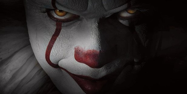 The new-look Pennywise the clown from the remake of Stephen King's It.