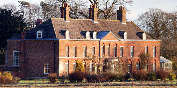 Anmer Hall is likely to host the celebrations for Prince George again. The property's walled gardens and lawns make it a perfect summer party location. Photo / Getty Images
