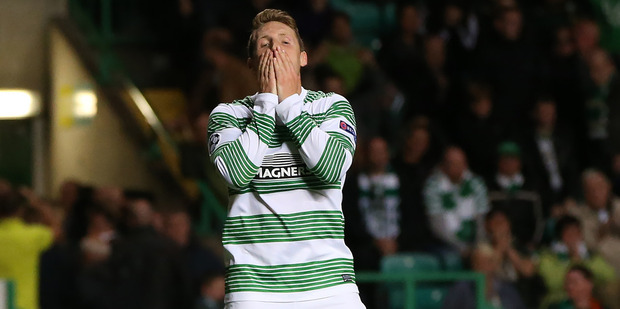 Despair on the face of a Celtic player. Photo / Getty Images
