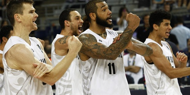 New Zealand's players perform a Haka at the 2014 FIBA World basketball championships. Photo / Getty Images