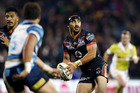 Thomas Leuluai of the Warriors in action during the round 17 NRL match against the Titans. Photo / Getty