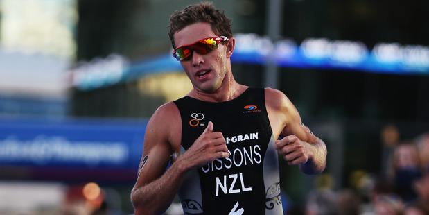 Ryan Sissons competes during the ITU World Triathlon Elite Men's race in Auckland. Photo / Getty Images