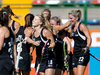 Anita Punt and teammates celebrate their team's first goal against Great Britain. Photo / Getty Images