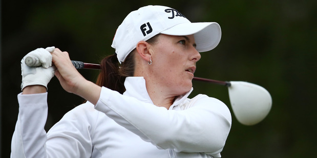 Cathryn Bristowcompetes during day two of the ISPS Handa Women's Australian Open. Photo / Getty Images