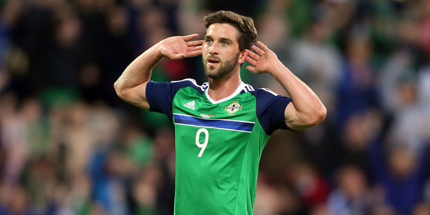 Northern Ireland's Will Grigg who became a hit during the 2016 Euro Championships. Photo / Getty