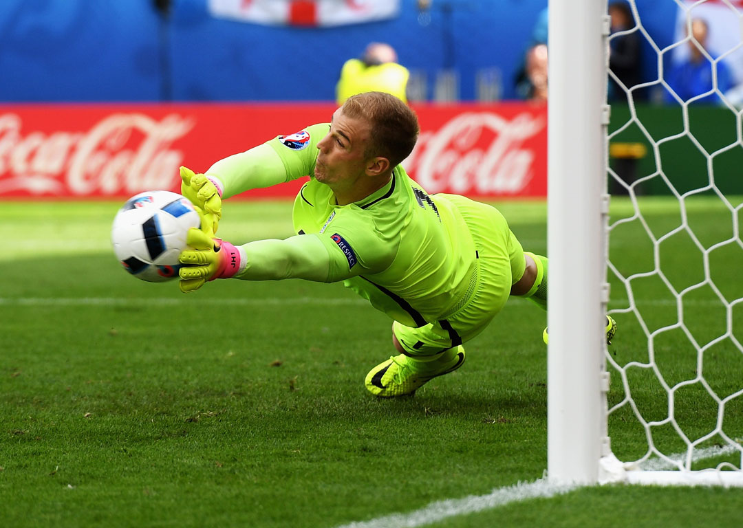 Joe Hart of England in action against Wales. Photo / Getty