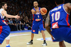Tony Parker of France handles the ball against Serbia. Photo / Getty Images