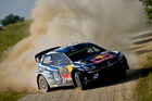 Sebastien Ogier during the Shakedown of the WRC Poland. Photo / Getty Images