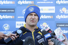 Parramatta Eels NRL coach Brad Arthur speaks to the media during a press conference. Photo / Getty