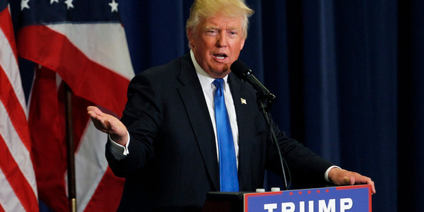 Republican Presidential candidate Donald Trump addresses the crowd during a campaign rally. Photo / Getty Images