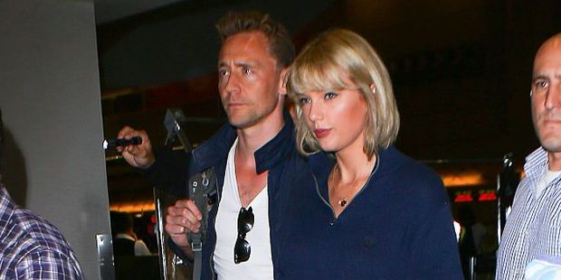 Loading Tom Hiddleston ignored a question from a reporter who was asking if Taylor Swift was the one. Photo / Getty Images